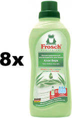 Акция на Упаковка кондиционера-ополаскивателя Frosch Алоэ Вера 750 мл х 8 шт (4009175093295) от Rozetka