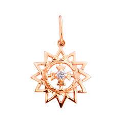 Кулон из красного золота Звезда Эрцгаммы с цирконием 00000319 от Zlato