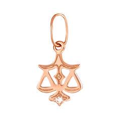Кулон из красного золота Знак Зодиака Весы с цирконием 000133281 000133281 от Zlato