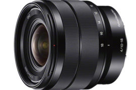 Акция на Объектив SONY 10-18mm F4 OSS black (SEL-1018) от Foxtrot
