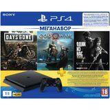 Акция на Игровая приставка SONY PlayStation 4 1ТВ + 3 игры и подписка PS Plus на 3 месяца (9382102) от Foxtrot