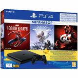 Акция на Игровая приставка SONY PlayStation 4 1Tb Black + 3 игры и подпиской PS Plus 3 мес (9391401) от Foxtrot