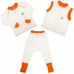 Акция на Комплект для малышей 3 в 1 Jersey Style Эко Пупс капитон молочный 92 от Podushka