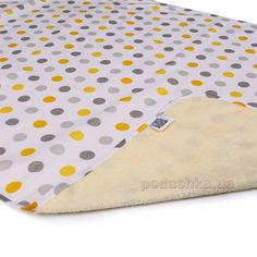 Двусторонняя непромокаемая пеленка Эко Пупс Eco Cotton Горошек 65х90 см от Podushka