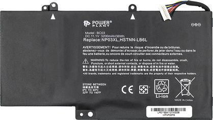 Аккумулятор PowerPlant для ноутбуков HP Pavilion X360 (NP03XL, HPNP03PB) (11.1V/3200mAh/3Cells) (NB460687) от Rozetka