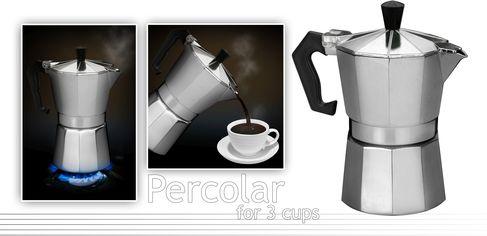 Гейзерная кофеварка Excellent Houseware на 3 чашки (170170100) от Rozetka