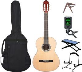 Гитарный комплект GEWA VGS Basic Plus 4/4 Natural №8 (G-PS510350742-S8) от Rozetka