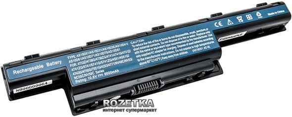 Аккумулятор PowerPlant для Acer Aspire 4551 Black (10.8V/6600mAh/9Cells) (NB00000064) от Rozetka