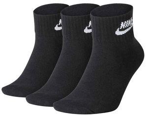 Акция на Набор носков Nike U Nk Nsw Evry Essential Ankle 3Pr SK0110-010 S (34–38) 3 пары Черный (193145890510) от Rozetka