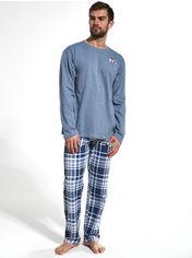 Пижама Cornette 124-20 2XL 2 шт Голубая с синим (5902458158850) от Rozetka