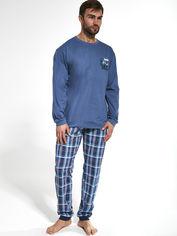 Пижама Cornette 115-20 2XL 2 шт Голубая с синим (5902458158300) от Rozetka