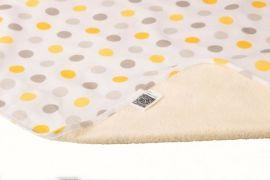 Многоразовая непромокаемая пеленка ЭКО ПУПС Eco Cotton Горошек, двусторонняя, хлопок, 90х65 см, бежевый (EPG10N-6590g) от Pampik