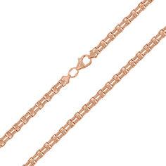 Акция на Золотая цепь фантазийного двойного плетения в красном цвете, 4мм 000088558 55 размера от Zlato