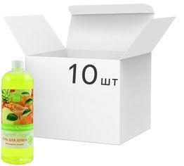 Упаковка геля для душа Bioton Cosmetics Мандарин и Ананас 1 л х 10 шт (4820026152974) от Rozetka