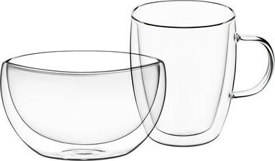 Набор для завтрака Ardesto чашка + пиала с двойными стенками (AR2650BG) от Rozetka