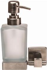 Дозатор для жидкого мыла GLOBUS LUX SQ9433 квадрат матовое стекло/нержавейка SUS304 от Rozetka