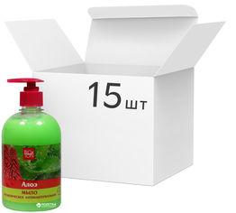 Акция на Упаковка мыла Bioton Cosmetics косметического антибактериального Алоэ 500 мл х 15 шт (4820026152998) от Rozetka