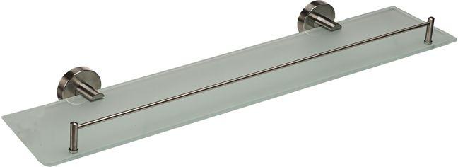 Полка для ванной GLOBUS LUX SS8427 стекло с бортом нержавейка SUS304 от Rozetka