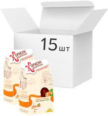 Упаковка конфет Корисна Кондитерська Курага с орехами со стевией 150 г х 15 шт (4820158920526) от Rozetka