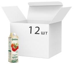 Упаковка сока Galicia Томатный с мякотью и солью 1 л х 12 шт (4820209560817) от Rozetka