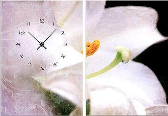Акция на Настенные часы ART-LIFE COLLECTION 1C-39-2p-W от Rozetka
