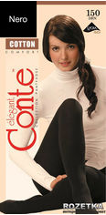 Акция на Колготки Conte из хлопка Cotton 150 Den 2 р Nero -4811473058261 от Rozetka