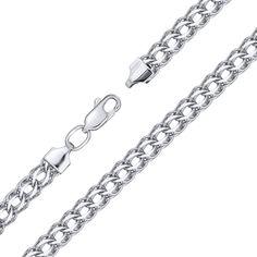 Серебряный браслет в плетении королевский бисмарк с алмазной гранью, 4мм 000113862 17.5 размера от Zlato