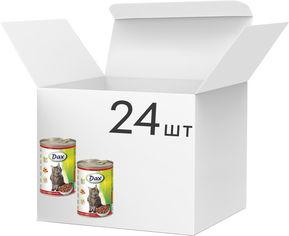 Акция на Упаковка влажного корма для кошек Dax с говядиной 415 г 24 шт (5999508137552) от Rozetka