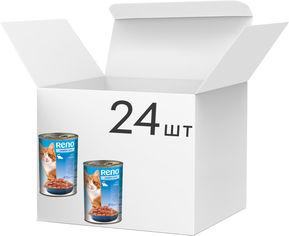 Упаковка влажного корма для котов Reno с рыбой 415 г 24 шт (5999508134360) от Rozetka