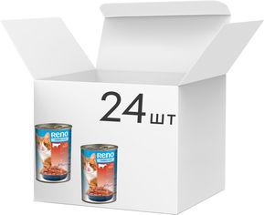 Упаковка влажного корма для котов Reno с говядиной 415 г 24 шт (5999508134353) от Rozetka
