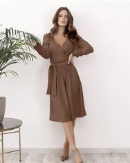 Платья ISSA PLUS AK-601  M коричневый от Issaplus