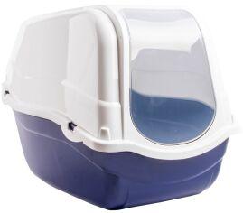 Акция на Туалет для кошек с фильтром Bergamo Romeo 57x39x41 см Blue (8033776768852) от Rozetka