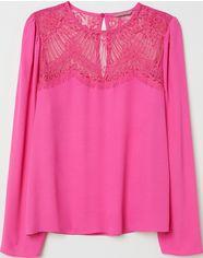 Блузка H&M 102618 50 Розовая (2002008393502) от Rozetka