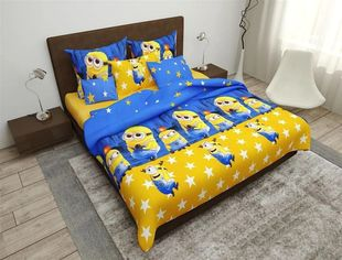 Комплект постельного белья MirSon Бязь 17-0163 Minion 175х210 см (2200001722859) от Rozetka