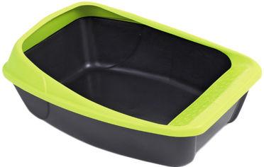 Туалет для кошек MPS с рамкой Virgo Dark 52 х 39 х 20 см Grey/Green (8022967012768) от Rozetka