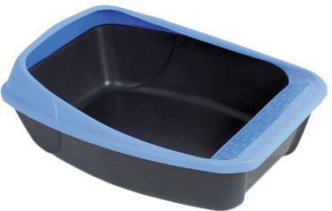 Туалет для кошек MPS с рамкой Virgo Dark 52 х 39 х 20 см Grey/Blue (8022967012751) от Rozetka