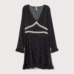 Платье H&M 71806796 36 Черное в Горошек (PS2000000903125) от Rozetka