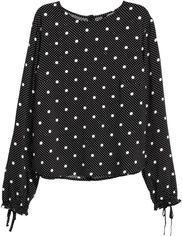 Блузка H&M 215961 38 Черная (2002008399818) от Rozetka