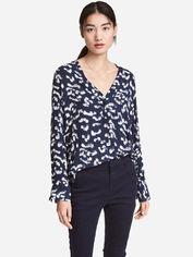 Блузка H&M 201860 40 Темно-синяя (2002008393335) от Rozetka