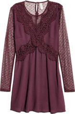 Платье H&M 146245 40 Бордовое (2002008263003) от Rozetka