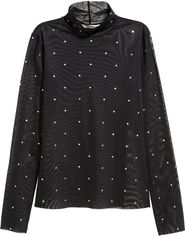 Блузка H&M 152279 L Черная (2002008387785) от Rozetka