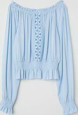 Блузка H&M 120470 34 Голубая (2002008387822) от Rozetka