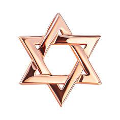 Золотая подвеска Звезда Давида со скрытым бунтиком 000080025 от Zlato