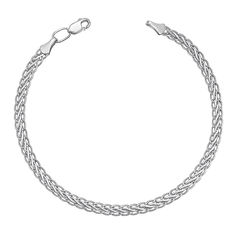 Серебряный браслет в плетении колосок 000113863, 2,5мм 17 размера от Zlato
