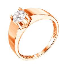 Кольцо в красном золоте Совершенство с кристаллом Swarovski  18 размера от Zlato