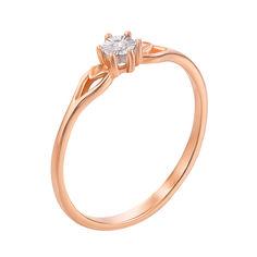 Золотое кольцо в комбинированном цвете с бриллиантом 000129704 16.5 размера от Zlato