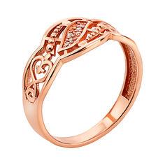 Кольцо из красного золота с фианитами 000136746 16.5 размера от Zlato