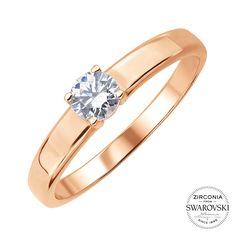 Кольцо из красного золота с цирконием Swarovski 000141445 16.5 размера от Zlato