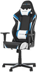Кресло для геймеров DXRacer Racing OH/RZ288/NBW Черное / Голубые и белые вставки от Rozetka