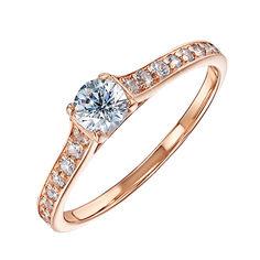 Золотое кольцо выбор со Swarovski Zirconia 000101684 17 размера от Zlato